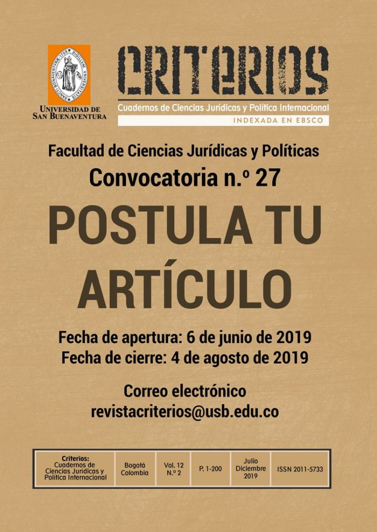 Revista Criterios Call for Papers