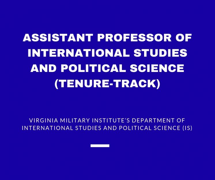 Assistant Professor of International Studies and Political Science (tenure-track)