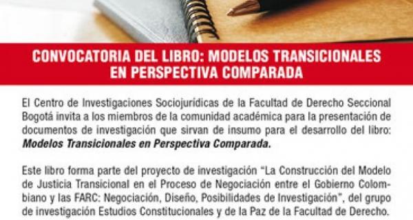 Convocatoria del libro: Modelos Transicionales en Perspectiva Comparada